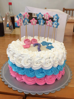 Gender Reveal Cake - Apple's Confections